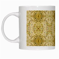 Vintage Wallpaper White Coffee Mug