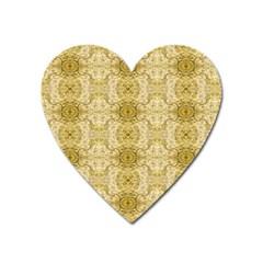 Vintage Wallpaper Magnet (Heart)