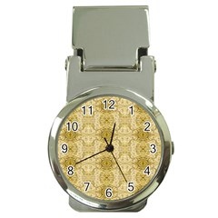Vintage Wallpaper Money Clip with Watch