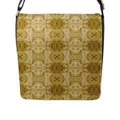 Vintage Wallpaper Flap Closure Messenger Bag (Large)