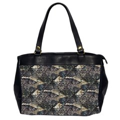 Vintage Wallpaper Oversize Office Handbag (Two Sides)