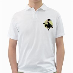 The Modern Witch Mens  Polo Shirt (White)
