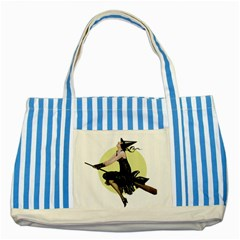 The Modern Witch Blue Striped Tote Bag