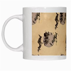The Witches Flight  White Coffee Mug