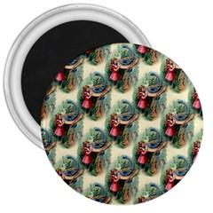 Alice In Wonderland 3  Button Magnet