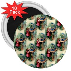 Alice In Wonderland 3  Button Magnet (10 pack)