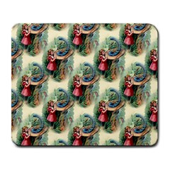 Alice In Wonderland Large Mouse Pad (Rectangle)
