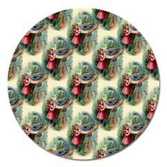 Alice In Wonderland Magnet 5  (Round)