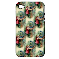 Alice In Wonderland Apple iPhone 4/4S Hardshell Case (PC+Silicone)
