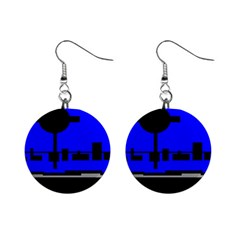 City Scope Mini Button Earrings