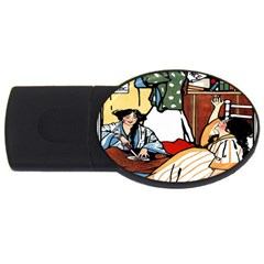 Wee Sma  Hours By Sadie Wendell Mitchell 1909 2GB USB Flash Drive (Oval)
