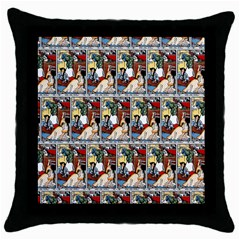 Wee Sma  Hours By Sadie Wendell Mitchell 1909 Black Throw Pillow Case