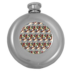 Wee Sma  Hours By Sadie Wendell Mitchell 1909 Hip Flask (Round)