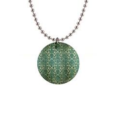 Vintage Wallpaper Button Necklace