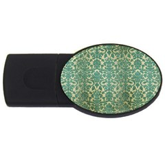 Vintage Wallpaper 4GB USB Flash Drive (Oval)