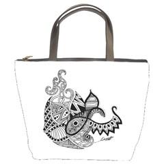 Petal Doodle Bucket Bag