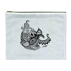 Petal Doodle Cosmetic Bag (XL)