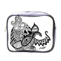 Petal Doodle Mini Travel Toiletry Bag (One Side)