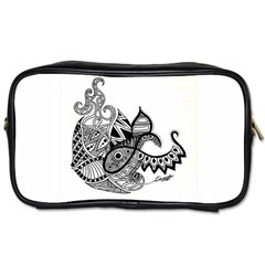 Petal Doodle Travel Toiletry Bag (One Side)