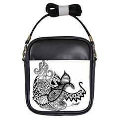 Petal Doodle Girl s Sling Bag