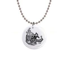 Petal Doodle Button Necklace