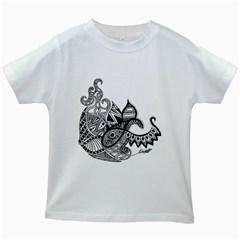 Petal Doodle Kids' T-shirt (White)
