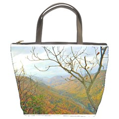 Way Above The Mountains Bucket Bag