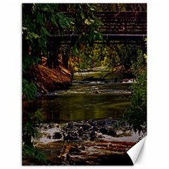 Creek Under The Bridge Canvas 12  X 16  (unframed)