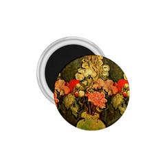 Still Life Vase With Rose Mallows By Vincent Van Gogh 1890  1.75  Button Magnet