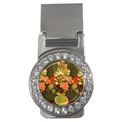 Still Life Vase With Rose Mallows By Vincent Van Gogh 1890  Money Clip (CZ)