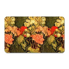 Still Life Vase With Rose Mallows By Vincent Van Gogh 1890  Magnet (Rectangular)