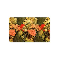 Still Life Vase With Rose Mallows By Vincent Van Gogh 1890  Magnet (Name Card)