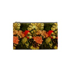 Still Life Vase With Rose Mallows By Vincent Van Gogh 1890  Cosmetic Bag (Small)