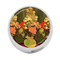 Still Life Vase With Rose Mallows By Vincent Van Gogh 1890  4-Port USB Hub (Two Sides)