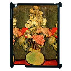 Still Life Vase With Rose Mallows By Vincent Van Gogh 1890  Apple iPad 2 Case (Black)