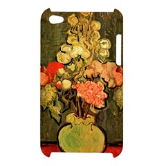 Still Life Vase With Rose Mallows By Vincent Van Gogh 1890  Apple iPod Touch 4G Hardshell Case