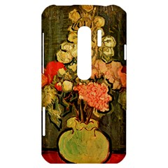 Still Life Vase With Rose Mallows By Vincent Van Gogh 1890  HTC Evo 3D Hardshell Case