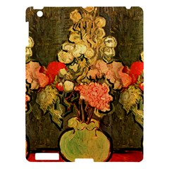 Still Life Vase With Rose Mallows By Vincent Van Gogh 1890  Apple iPad 3/4 Hardshell Case