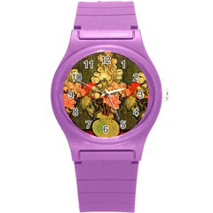 Still Life Vase With Rose Mallows By Vincent Van Gogh 1890  Plastic Sport Watch (Small)