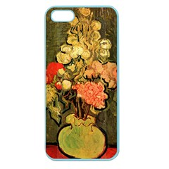 Still Life Vase With Rose Mallows By Vincent Van Gogh 1890  Apple Seamless iPhone 5 Case (Color)