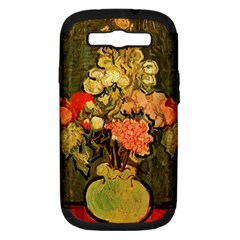 Still Life Vase With Rose Mallows By Vincent Van Gogh 1890  Samsung Galaxy S III Hardshell Case (PC+Silicone)