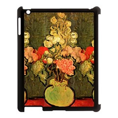 Still Life Vase With Rose Mallows By Vincent Van Gogh 1890  Apple iPad 3/4 Case (Black)