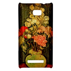 Still Life Vase With Rose Mallows By Vincent Van Gogh 1890  HTC 8X Hardshell Case