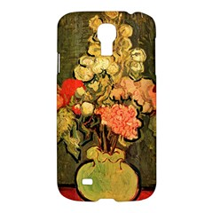 Still Life Vase With Rose Mallows By Vincent Van Gogh 1890  Samsung Galaxy S4 I9500 Hardshell Case