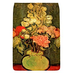 Still Life Vase With Rose Mallows By Vincent Van Gogh 1890  Removable Flap Cover (Small)
