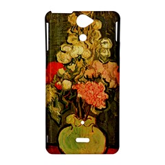Still Life Vase With Rose Mallows By Vincent Van Gogh 1890  Sony Xperia V Hardshell Case
