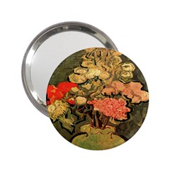 Still Life Vase With Rose Mallows By Vincent Van Gogh 1890  Handbag Mirror (2.25 )