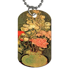 Still Life Vase With Rose Mallows By Vincent Van Gogh 1890  Dog Tag (Two Sided)
