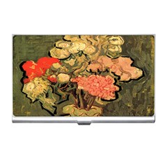 Still Life Vase With Rose Mallows By Vincent Van Gogh 1890  Business Card Holder