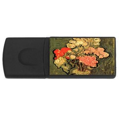 Still Life Vase With Rose Mallows By Vincent Van Gogh 1890  2GB USB Flash Drive (Rectangle)